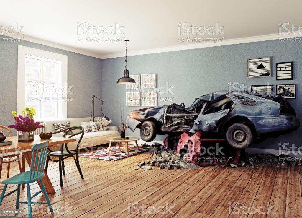 De gebroken auto foto