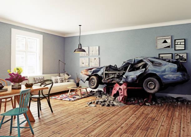 The broken car stock photo