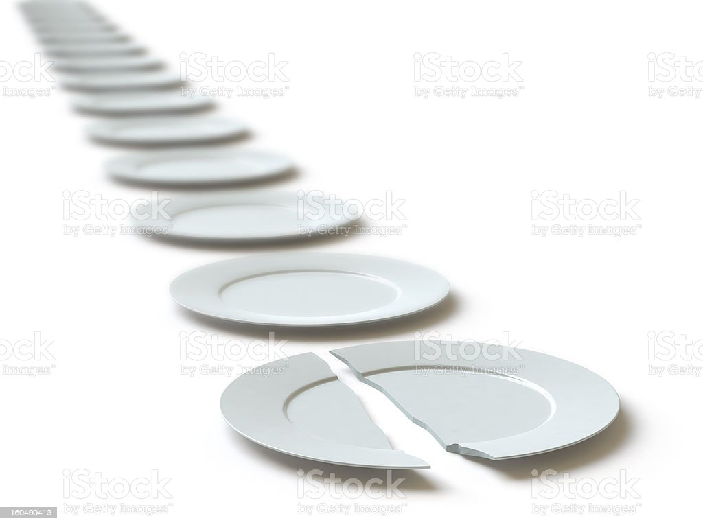 the broken plate royalty-free stock photo