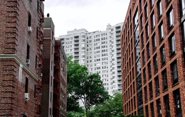 The Bronx, New York City Urban Density Cityscape, High Rise Buildings stock photo
