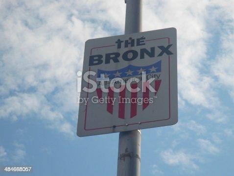 The Bronx Street Sign, New York, USA
