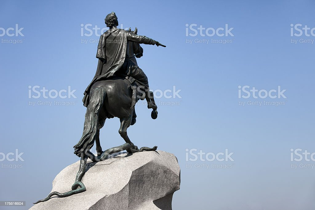 The Bronze Horseman Monument (18th Century) in Saint Petersburg, Russia royalty-free stock photo