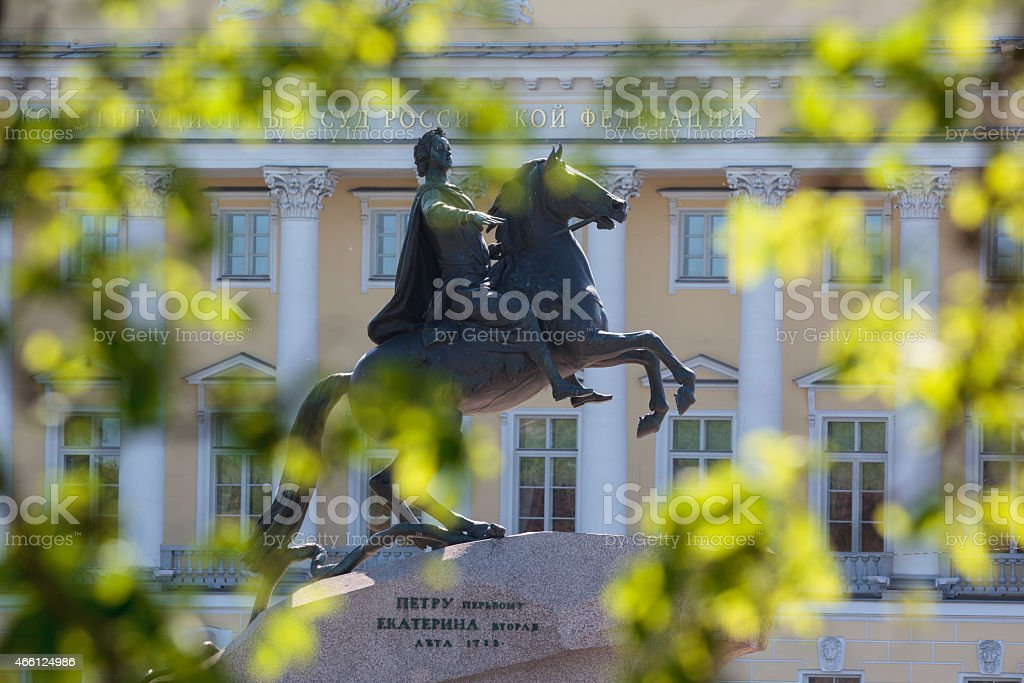 The Bronze Horseman stock photo