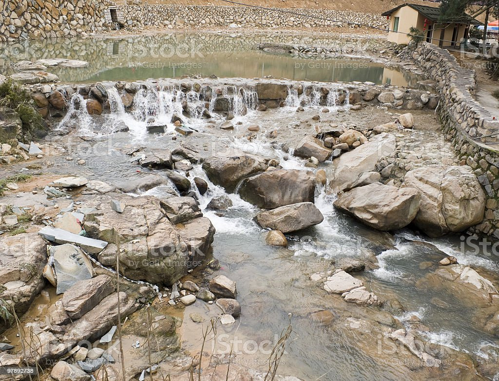 the brook of countryside in fujian royalty-free stock photo