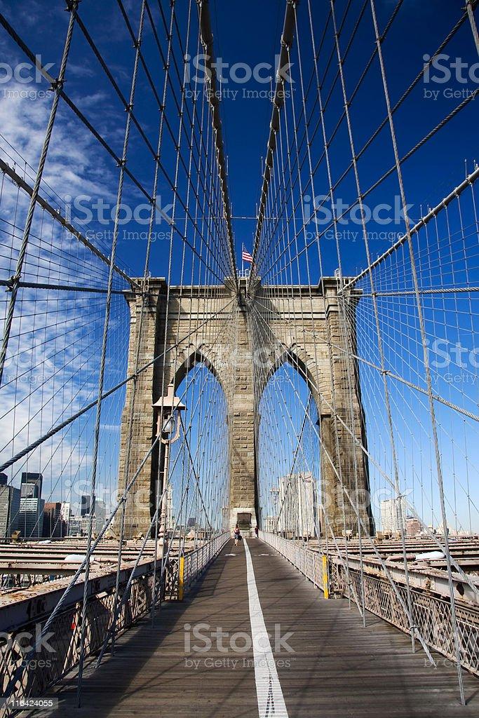 The Brooklyn Bridge royalty-free stock photo