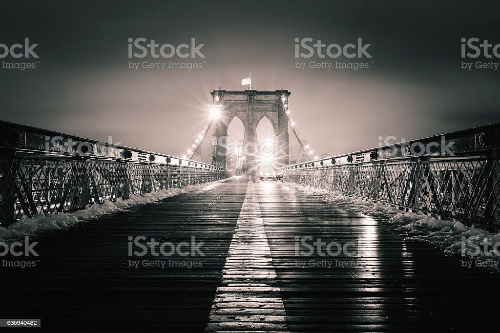The Brooklyn Bridge stock photo