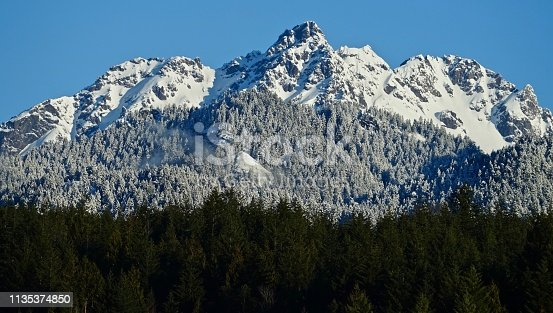 Northwest Washington's Olympic Mountains. Olympic National Forest/East Edge. The Brothers Wilderness. Above Hood Canal.