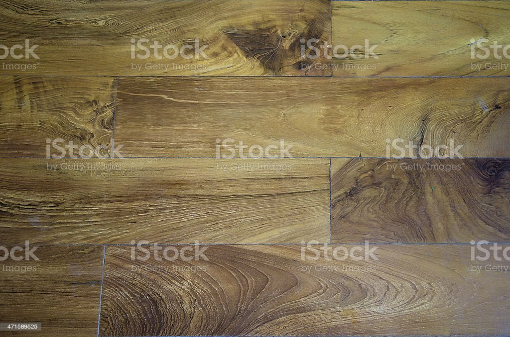 the brown wood texture of floor with  aged parquet royalty-free stock photo