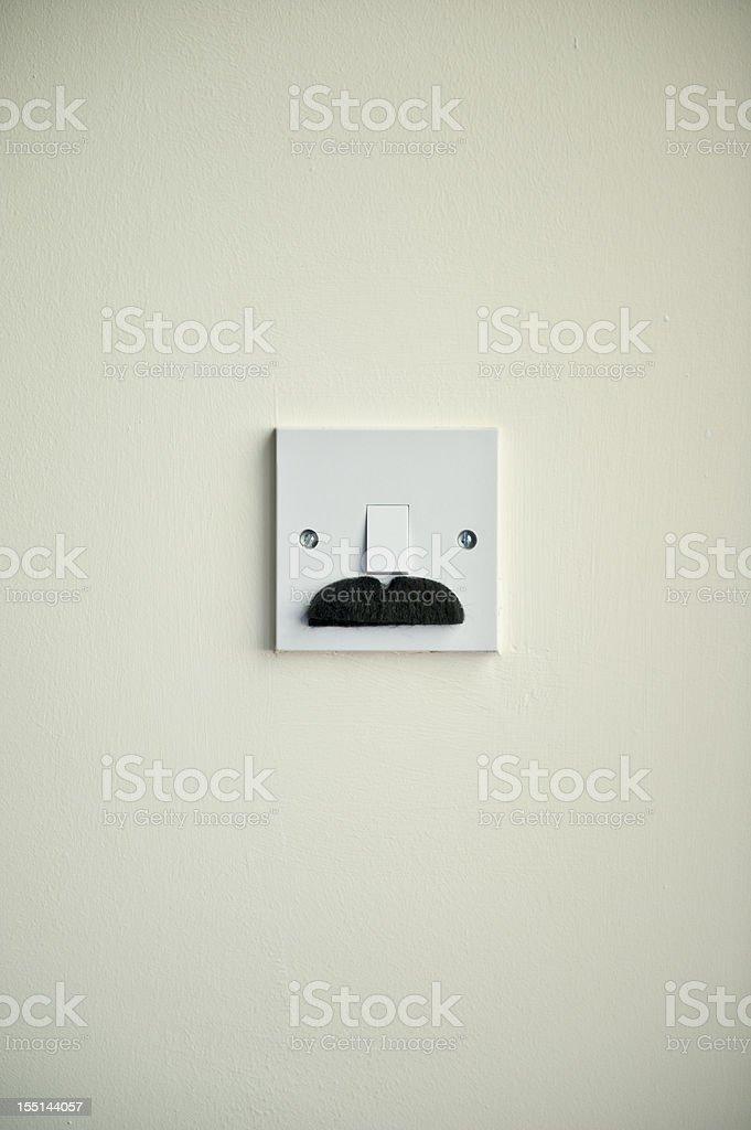 The Bruiser Mustache Light Switch stock photo