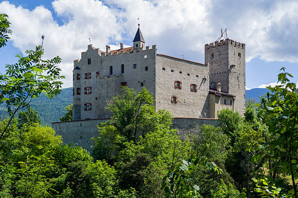 The Bruneck Castle Brunico, Italy - June 7, 2013: The Bruneck Castle, in Bruneck (Brunico), in Sudtirol (Alto Adige), Italy. bruneck stock pictures, royalty-free photos & images