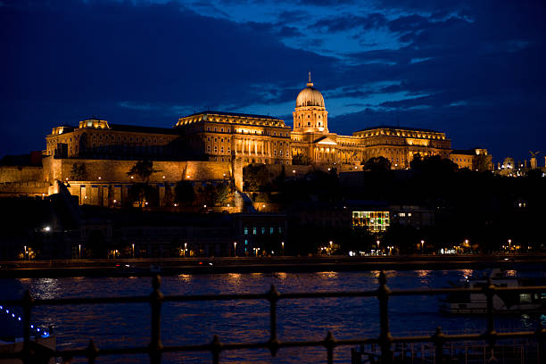 The Buda Castle Danube riverside in the historical center of Budapest. Since 1987 is an Unesco world heritage Site. artistical stock pictures, royalty-free photos & images
