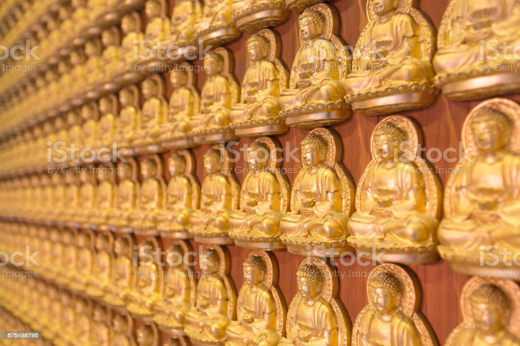 Duvarda Buda heykeli royalty-free stock photo