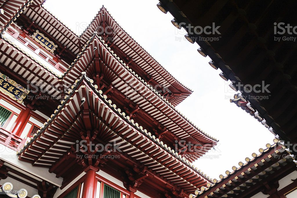 The Buddha Tooth Relic Temple Singapore stock photo