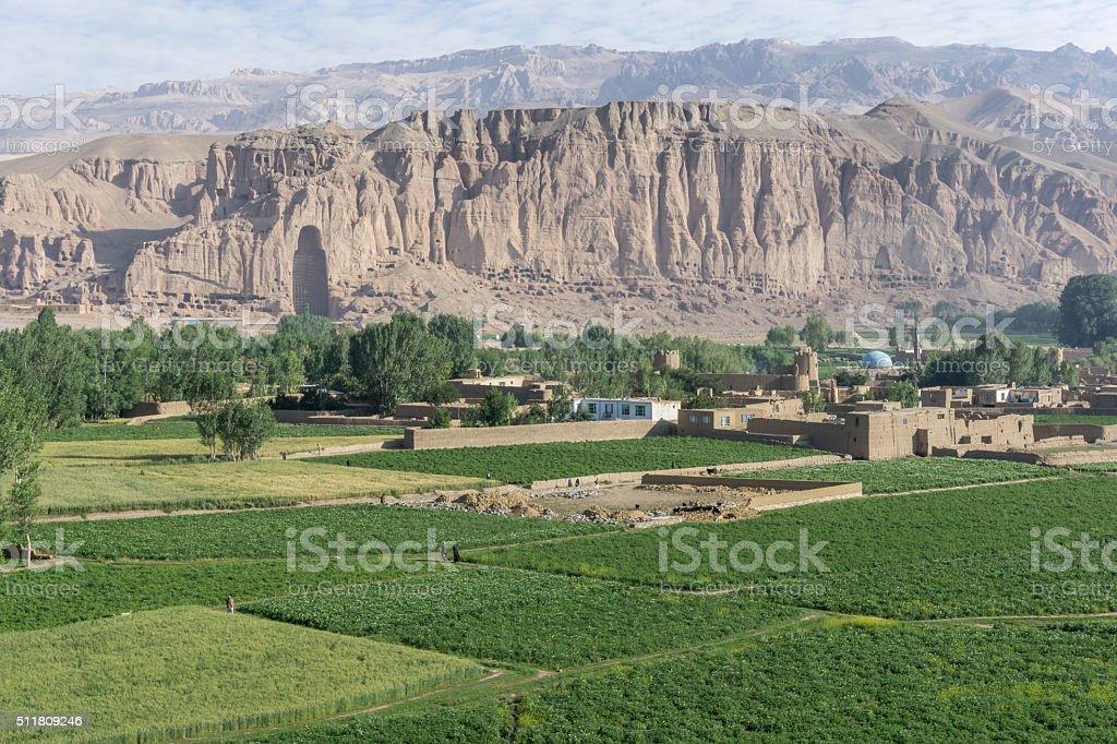 The Buddhas of Bamiyan stock photo