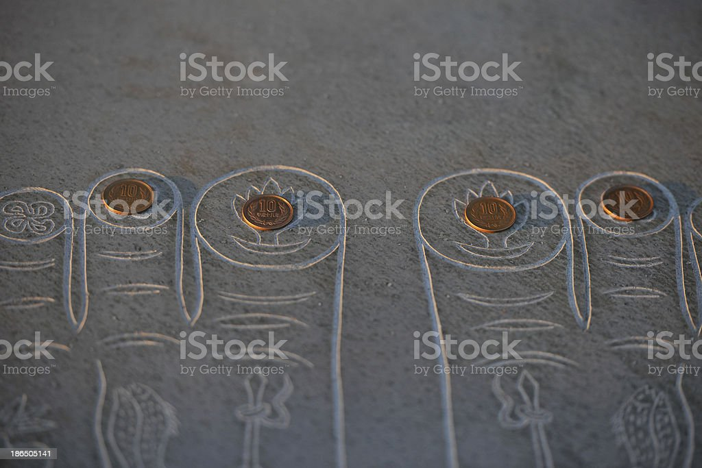 The Buddha's Toes royalty-free stock photo