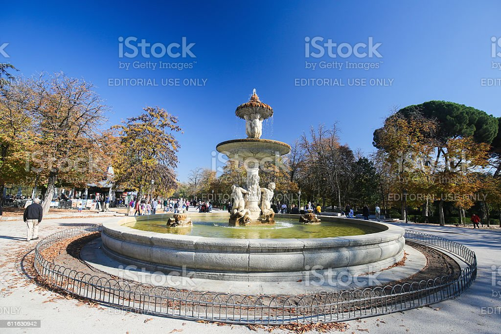 The Buen Retiro Park in Madrid, Spain stock photo