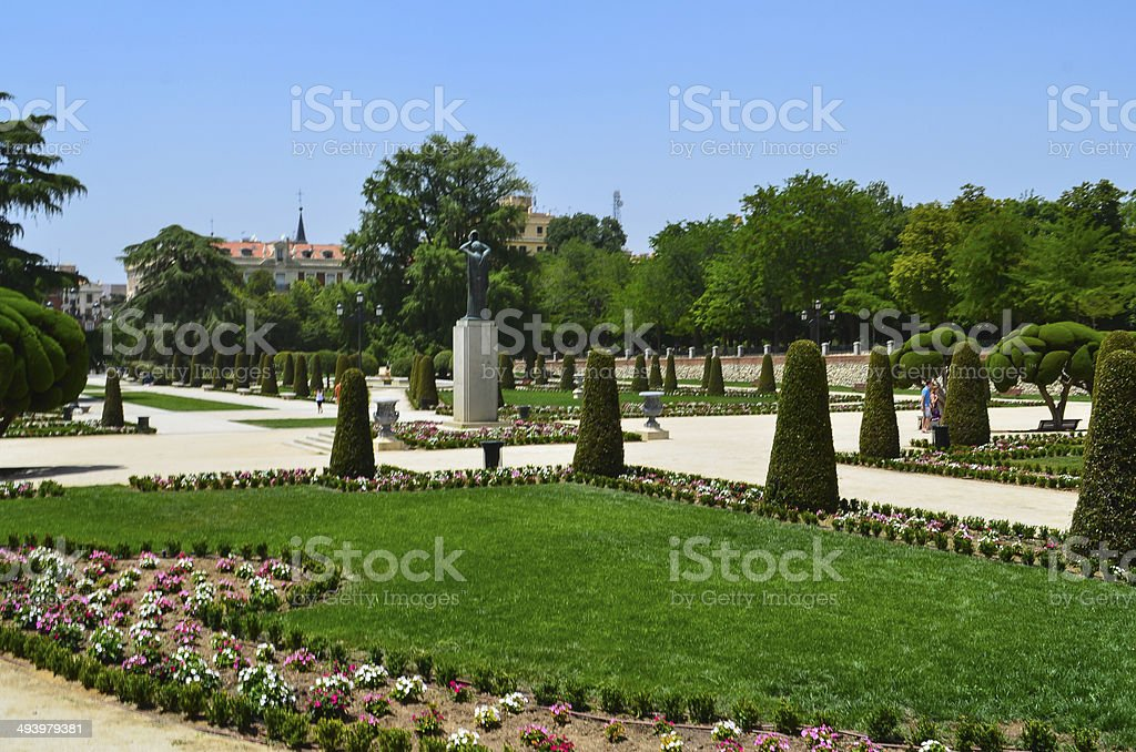 The Parque del Buen Retiro, Madrid stock photo