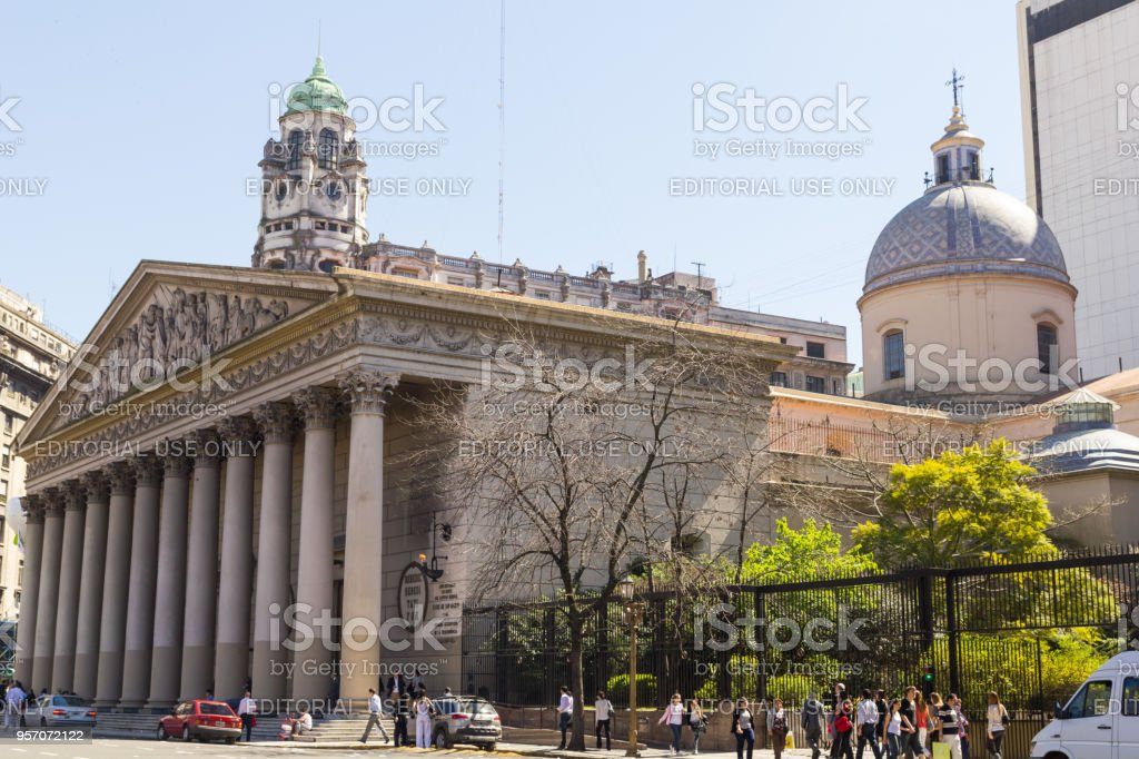 The Buenos Aires Metropolitan Cathedral. Buenos Aires, Argentina. stock photo