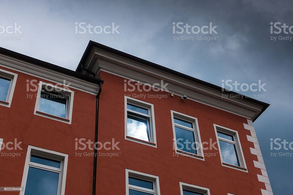 The building against sky in city Minden, Germany stock photo