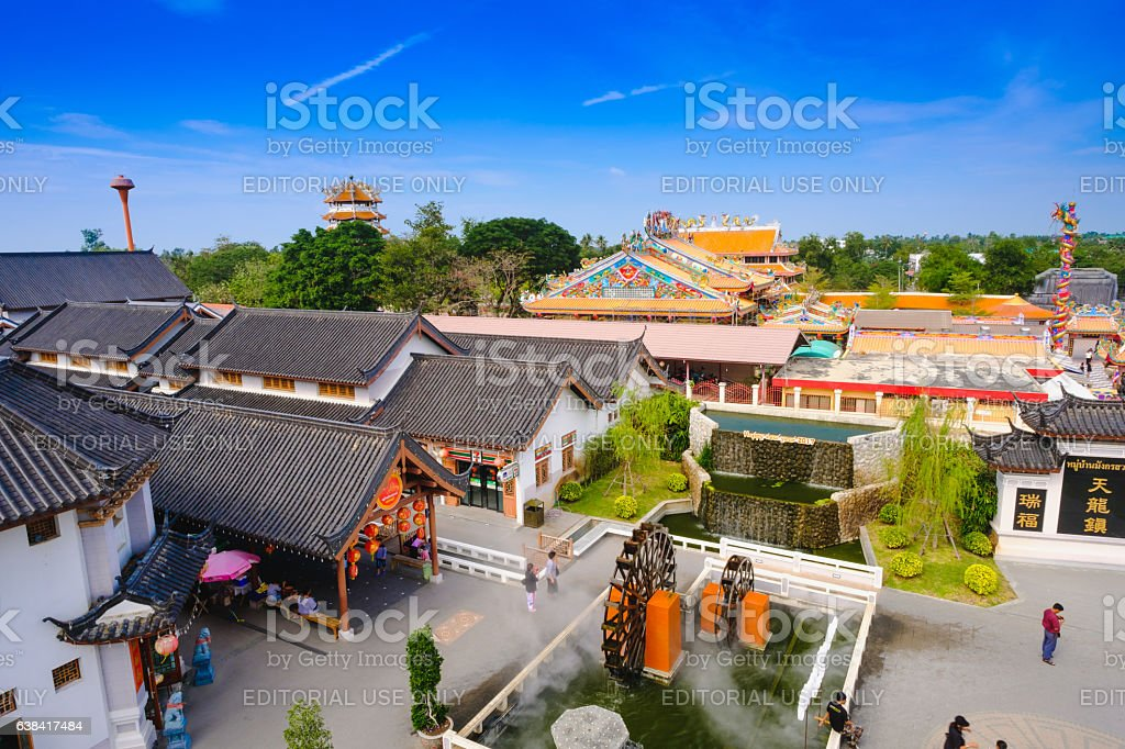 The Building at China town stock photo