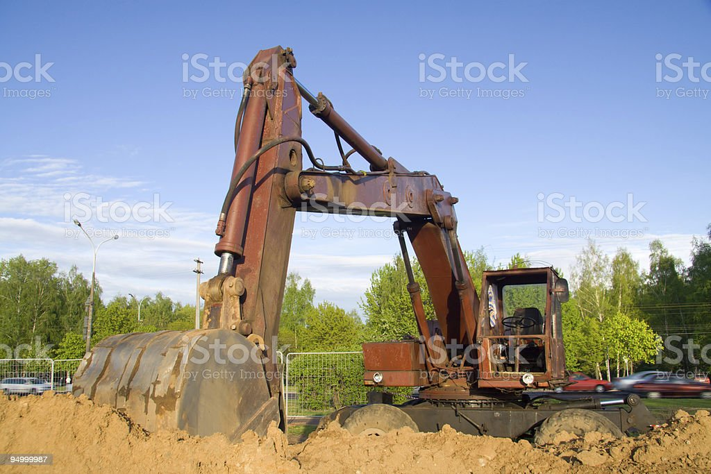 The building machine royalty-free stock photo
