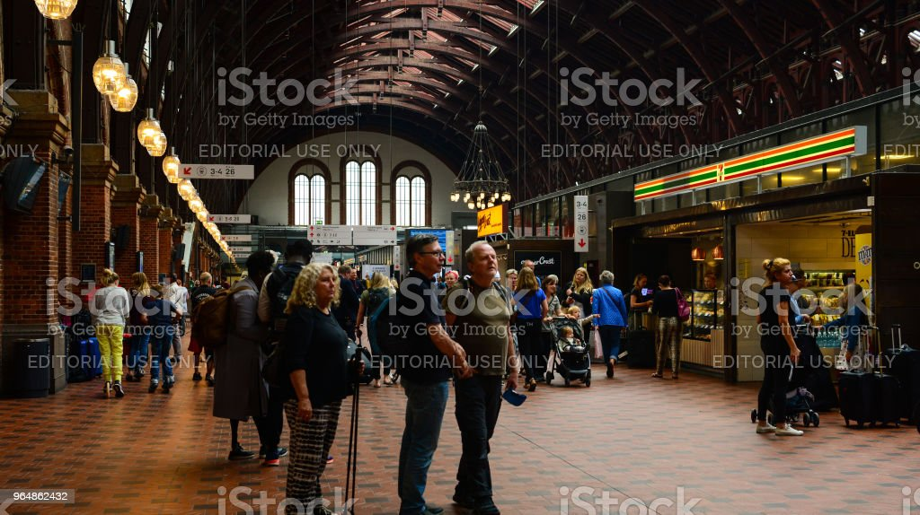 The building of Copenhagen Central Railway station royalty-free stock photo