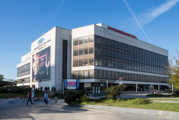 the building of the congress centre in prague - conferences stock photos and pictures
