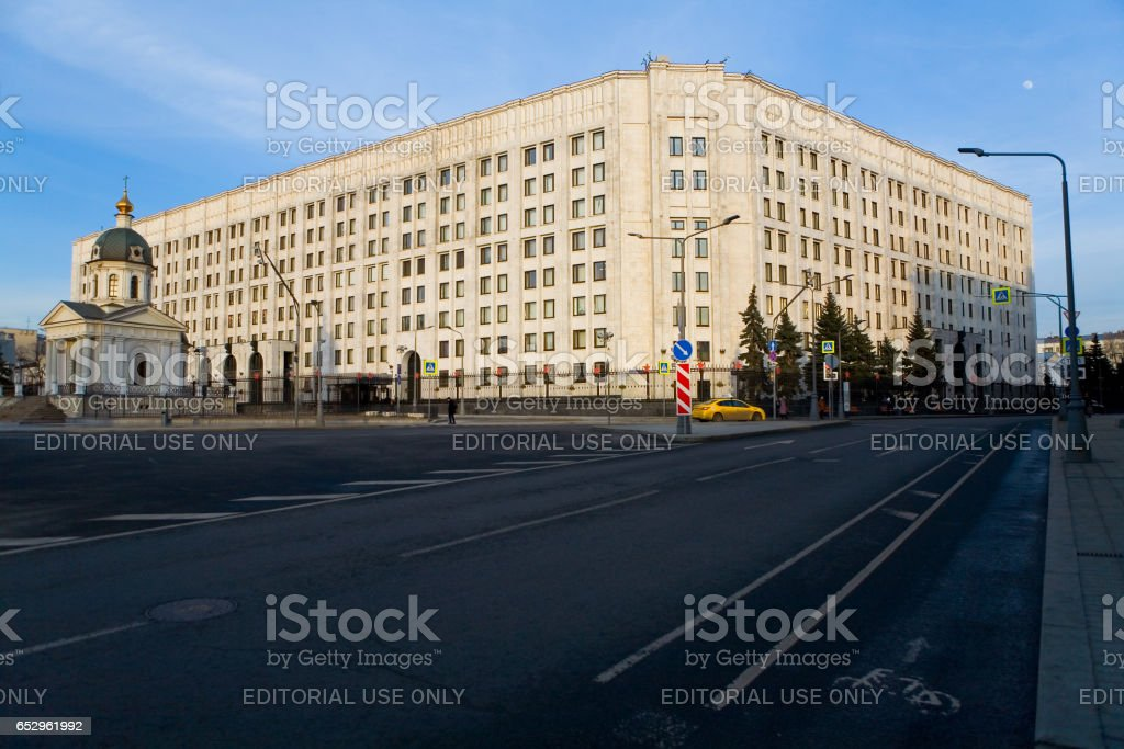 The building of the Ministry of Defense of the Russian Federation. stock photo