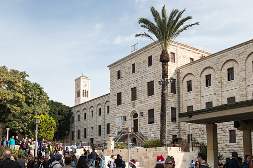 istock The building of the Museum Of Ancient Nazareth and the bell tower of the St. Joseph's Church in the old city of Nazareth in Israel 905185282