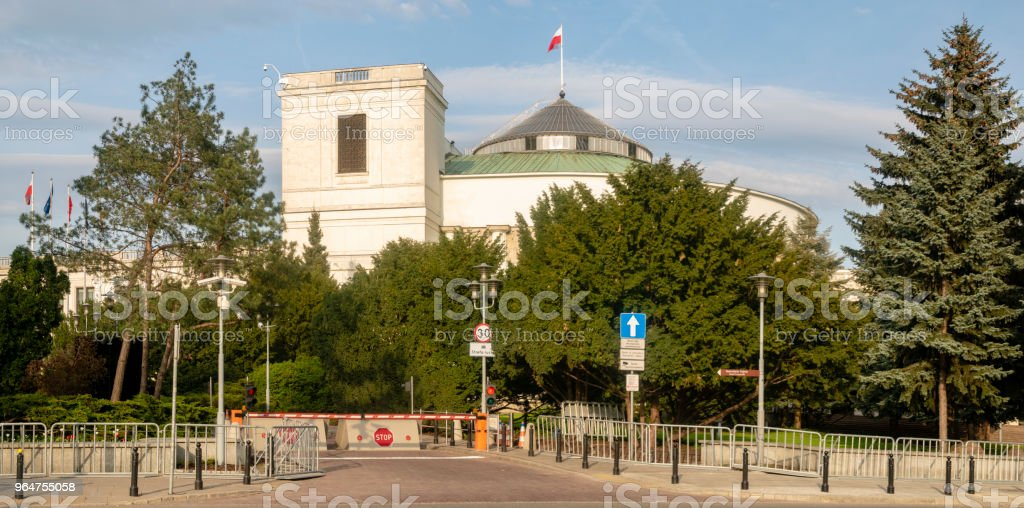 The building of the parliament of the Republic of Poland royalty-free stock photo