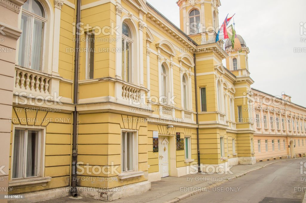 The building of the Pozega Slavonian County stock photo