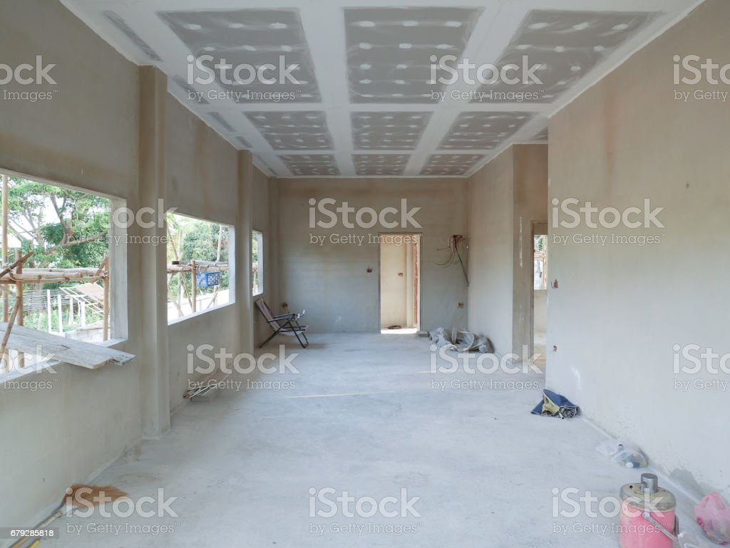 The building structure home interior from concrete foto de stock royalty-free