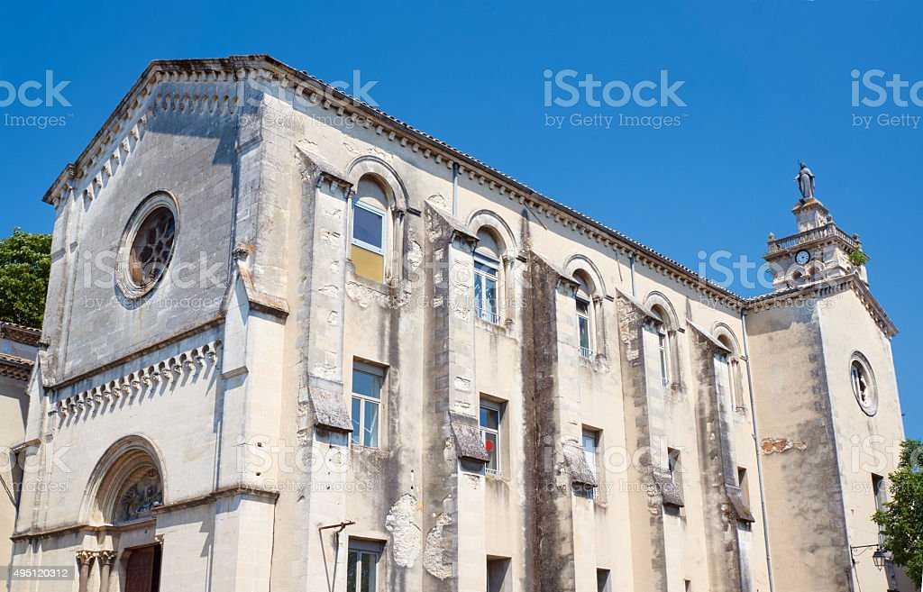 The building with clock tower stock photo