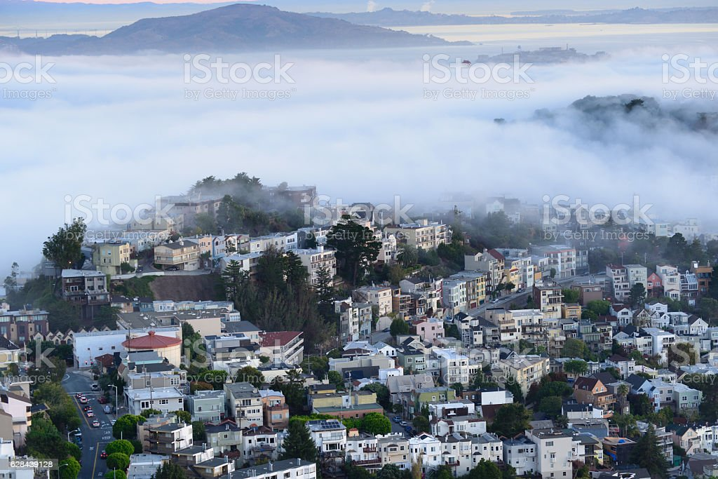 The buildings in San francisco stock photo