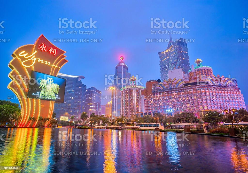 The Buildings of casino in Macau, China stock photo