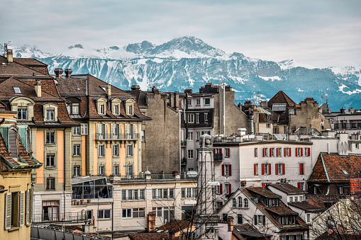 The Buildings Of Lausanne, Switzerland