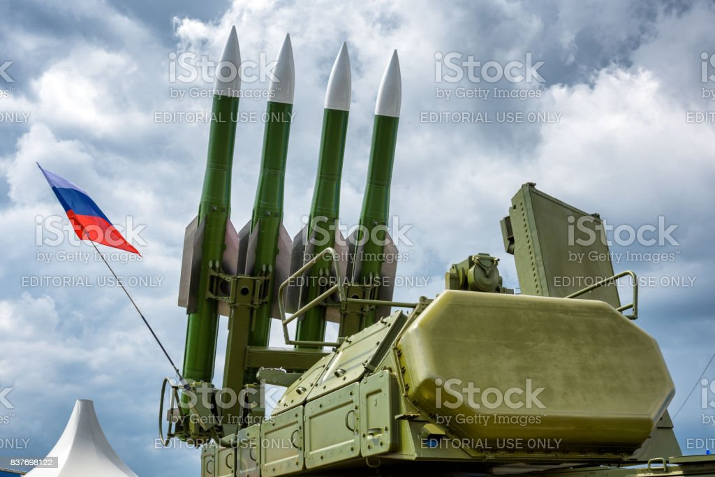 The Buk-M2 russian missile system stock photo