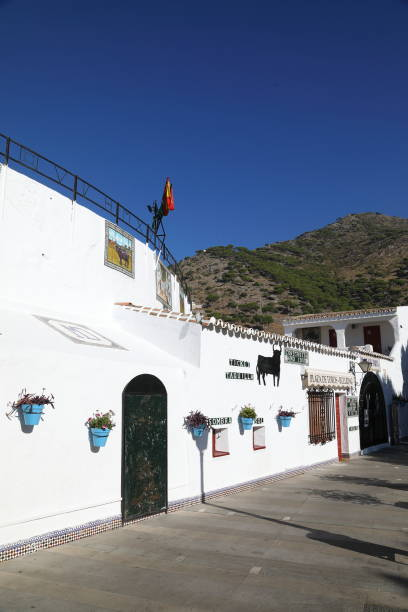 the bullring of mijas - the white town above fuengirola - pejft stock photos and pictures