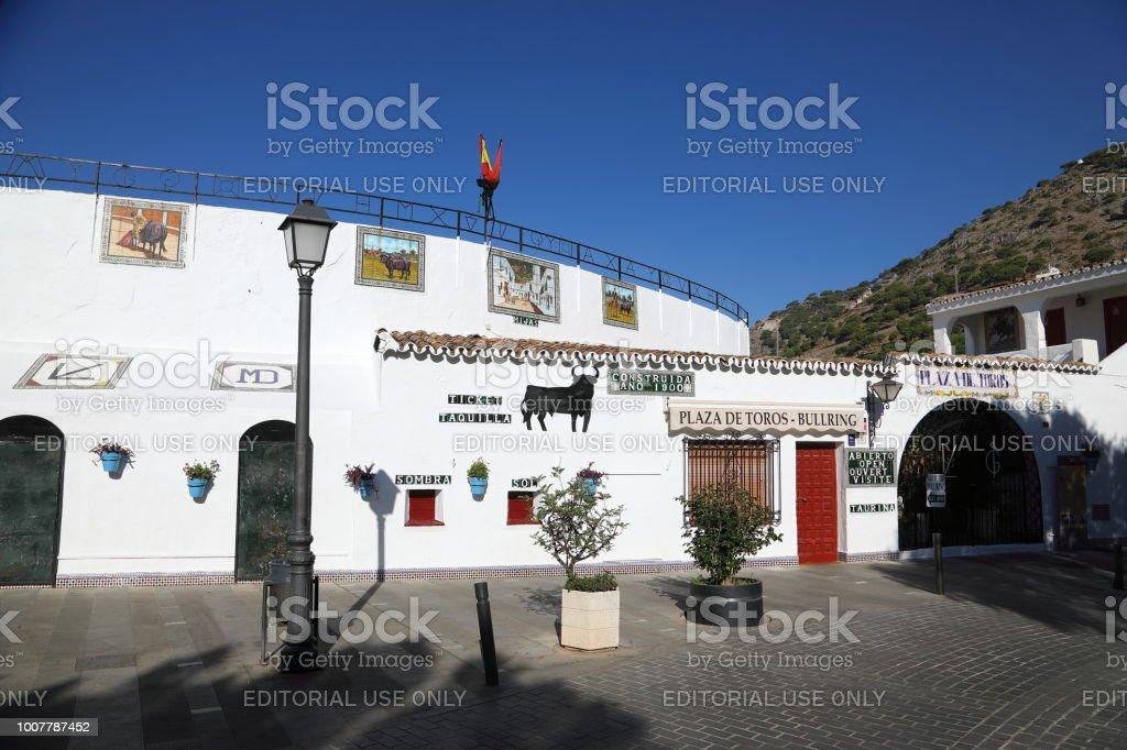 The bullring of Mijas - the white town above Fuengirola stock photo