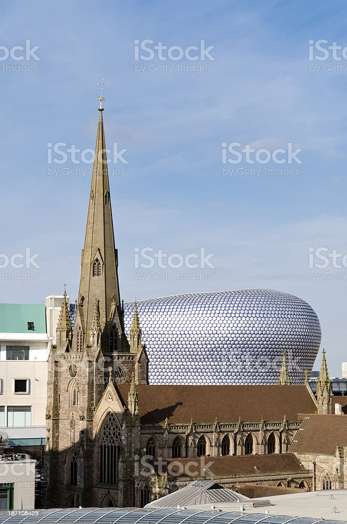 The Bullring shopping centre, Birmingham royalty-free stock photo