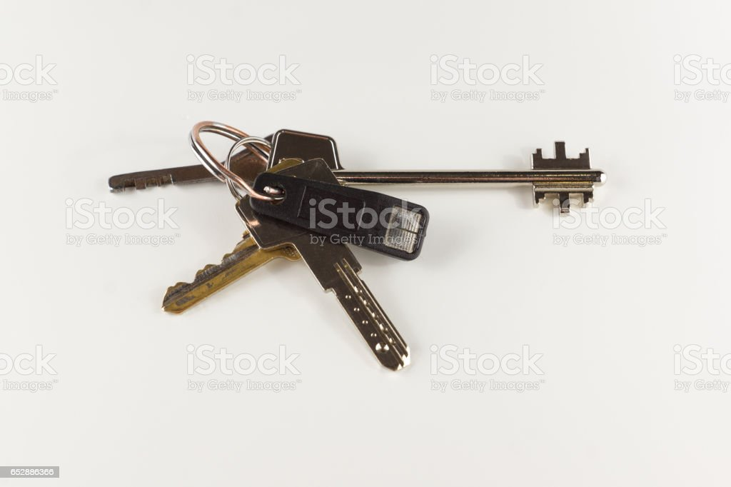 the bunch of different keys stock photo