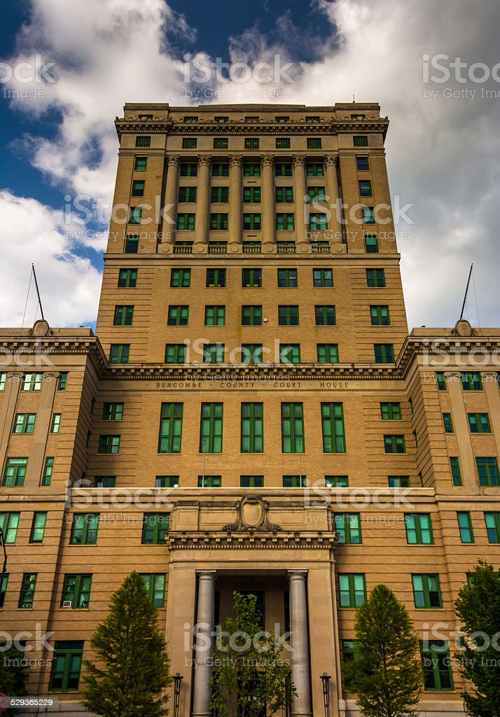 The Buncombe County Courthouse in Asheville, North Carolina. stock photo