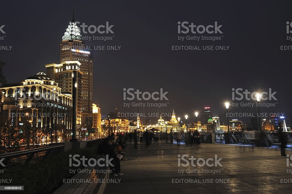 The Bund at Night royalty-free stock photo