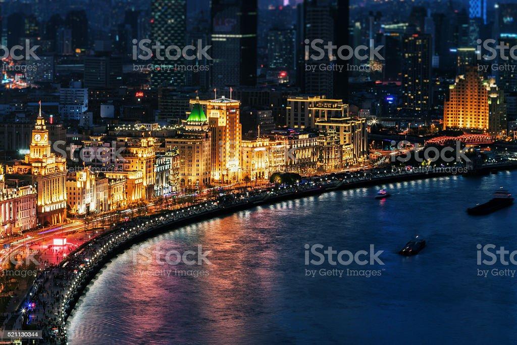 The bund of Shanghai stock photo