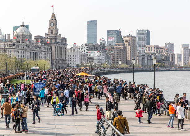 SHANGHAI, CHINA - APRIL 04, 2016: The Bund of Shanghai SHANGHAI, CHINA - APRIL 04, 2016: The Bund of Shanghai - most famous promenade in China the bund stock pictures, royalty-free photos & images