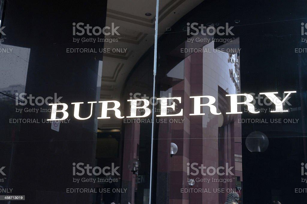 The Burberry Logo stock photo
