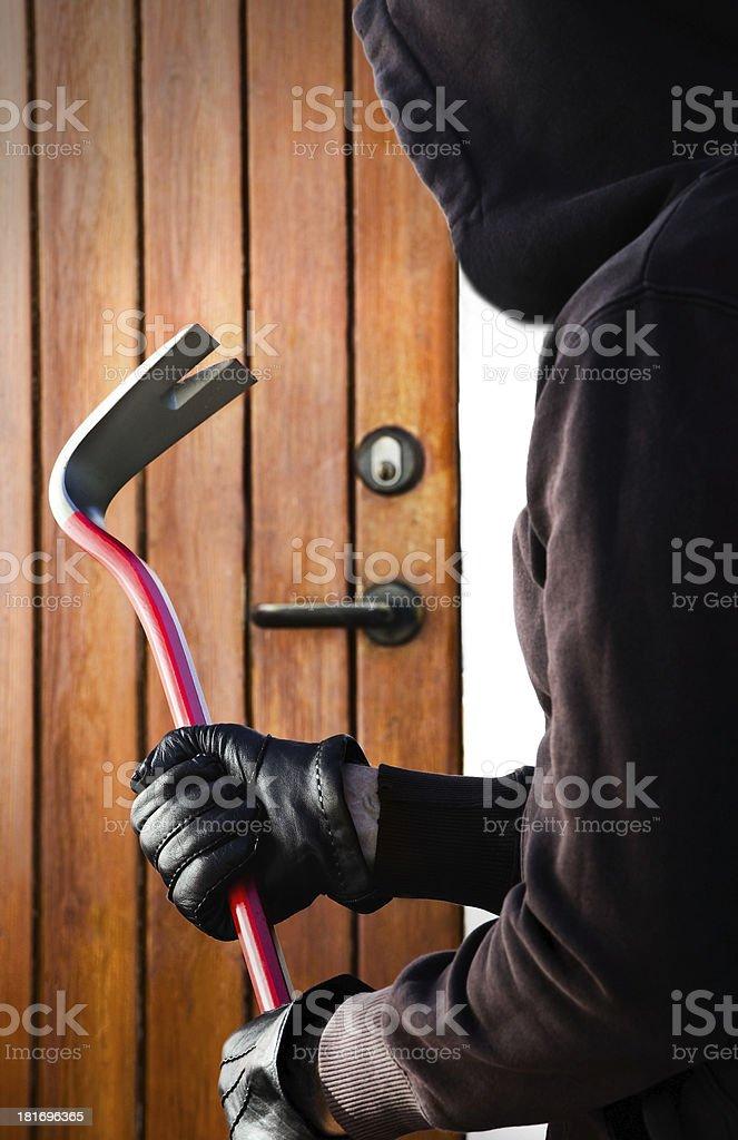 The Burglar stock photo