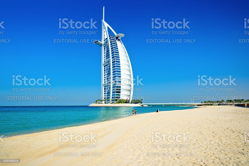 The Burj Al Arab Hotel in Dubai stock photo