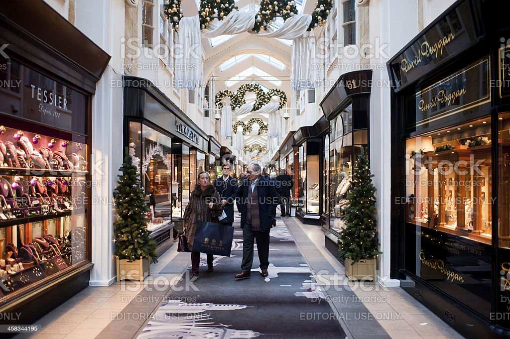 The Burlington Arcade in London royalty-free stock photo