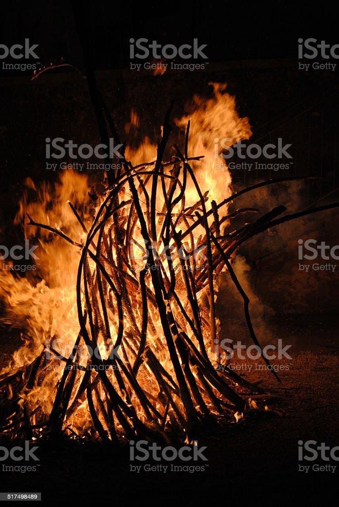 La quema de brujas - foto stock